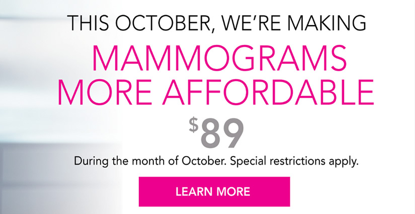 $89 Mammography